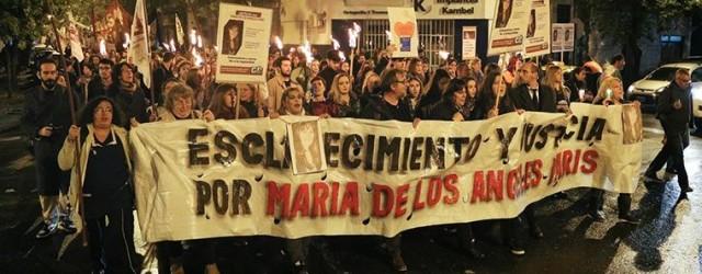 MARCHA POR MARIA DE LOS ANGELES CUNA DE LA NOTICIA