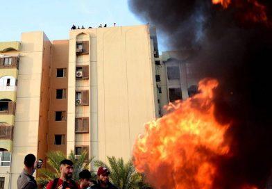 Dos cohetes impactaron en Bagdad, a metros de la Embajada de EEUU